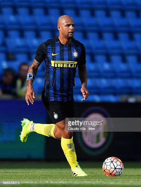 Felipe Melo of FC Internazionale in action during the friendly match between Tottenham FC Hotspur and Fc Internazionale played at Ullevaal Stadium on...