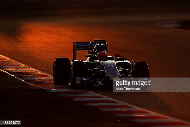 Felipe Nasr of Brazil and Sauber F1 drives during day one of Formula One Winter Testing at Circuit de Catalunya on February 19 2015 in Montmelo Spain
