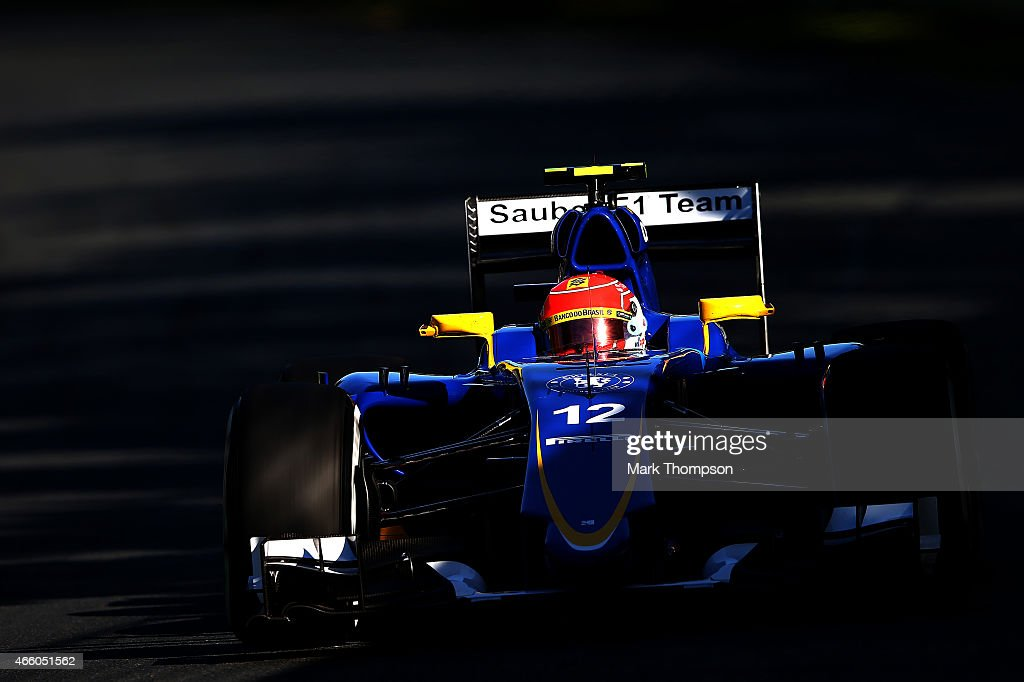 Felipe Nasr of Brazil and Sauber F1 drives during practice for the Australian Formula One Grand Prix at Albert Park on March 13, 2015 in Melbourne, Australia.