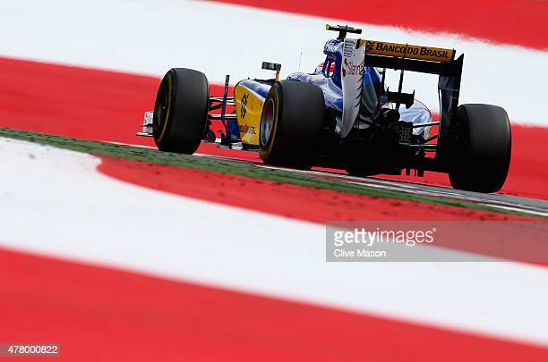 Felipe Nasr of Brazil and Sauber F1 drives during the Formula One Grand Prix of Austria at Red Bull Ring on June 21 2015 in Spielberg Austria