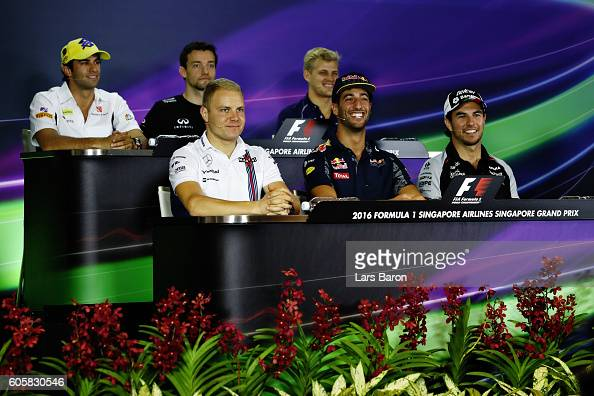 Felipe Nasr of Brazil and Sauber F1 Jolyon Palmer of Great Britain and Renault Sport F1 Marcus Ericsson of Sweden and Sauber F1 Valtteri Bottas of...