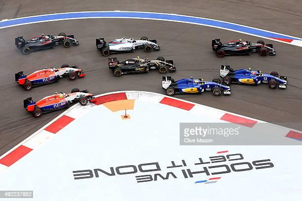 Felipe Nasr of Brazil and Sauber F1 Marcus Ericsson of Sweden and Sauber F1 Jenson Button of Great Britain and McLaren Honda Pastor Maldonado of...
