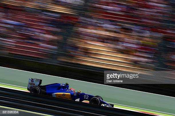 Felipe Nasr of Brazil drives the 2 Sauber F1 Team Sauber C35 Ferrari 059/5 turbo during the Spanish Formula One Grand Prix at Circuit de Catalunya on...