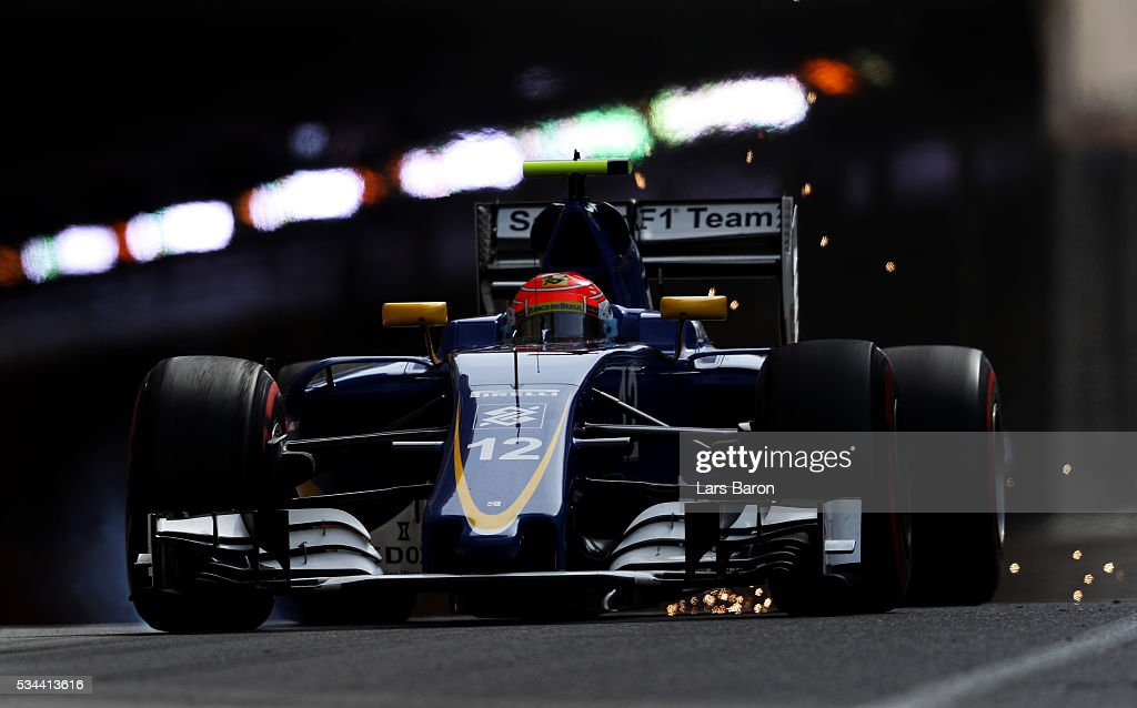 <a gi-track='captionPersonalityLinkClicked' href=/galleries/search?phrase=Felipe+Nasr&family=editorial&specificpeople=7881965 ng-click='$event.stopPropagation()'>Felipe Nasr</a> of Brazil driving the (12) Sauber F1 Team Sauber C35 Ferrari 059/5 turbo on track during practice for the Monaco Formula One Grand Prix at Circuit de Monaco on May 26, 2016 in Monte-Carlo, Monaco.
