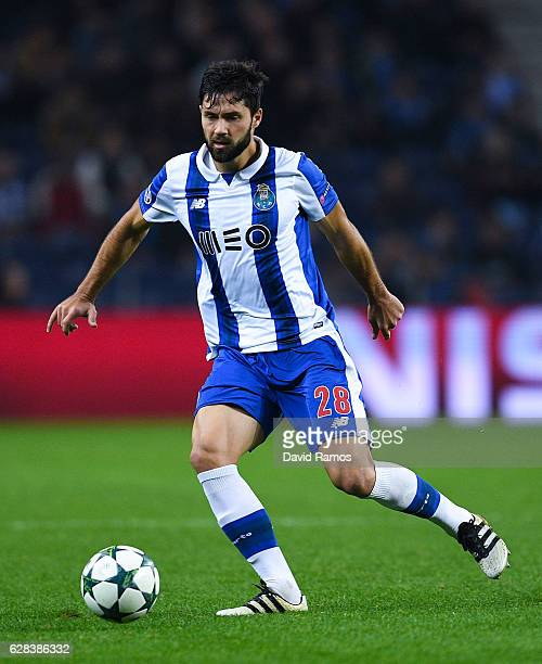 Felipe of FC Porto runs with the ball during the UEFA Champions League match between FC Porto and Leicester City FC at Estadio do Dragao on December...