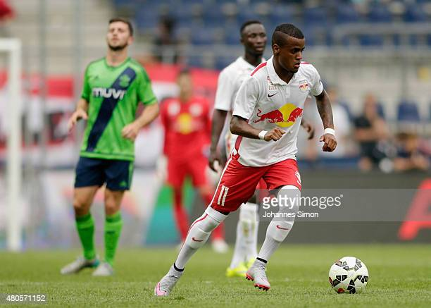 Felipe Pires of Salzburg in action during the preseason match for the 3rd place between FC Red Bull Salzburg and Southampton FCas part of the Audi...