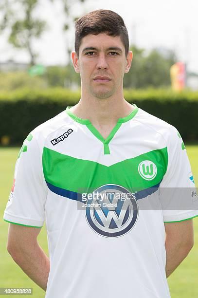 Felipe poses during the team presentation of VfL Wolfsburg at Volkswagen Arena on July 16 2015 in Wolfsburg Germany