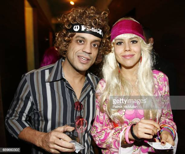 Felipe Prata and Manoela guest attend ROSE BAR and NUR KHAN Celebrate Halloween at Rose Bar on October 31 2009 in New York City