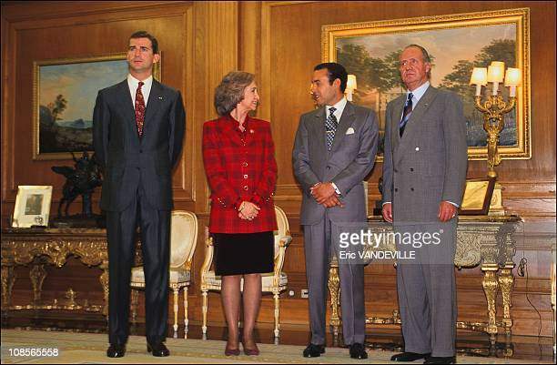 Felipe Prince Sidi Mohamed Sofia and Juan Carlos in Madrid Spain on May 12th 1997