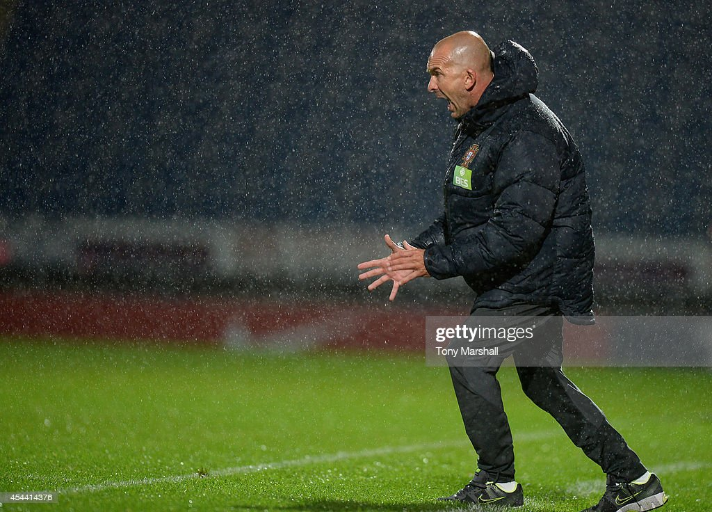 Felipe Ramos, Head Coach of Portugal during the Under 17 International match between England U17 and Portugal U17 at Proact Stadium on August 29, 2014 in Chesterfield, England.