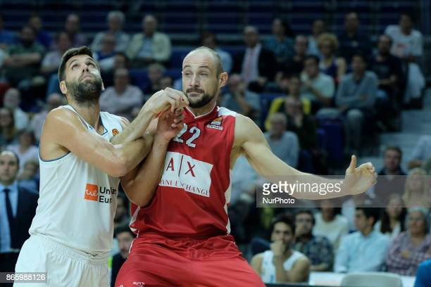Felipe Reyes of Real Madrid during the 2017/2018 Turkish Airlines Euroleague Regular Season Round 3 game between Real Madrid v AX Armani Exchange...