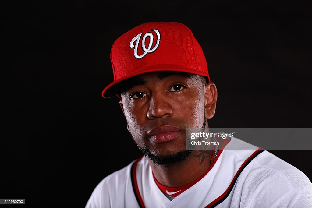 Felipe Rivero #73 of the Washington Nationals poses for a portrait at Spring Training photo day at Space Coast Stadium on February 28, 2016 in Viera, Florida.