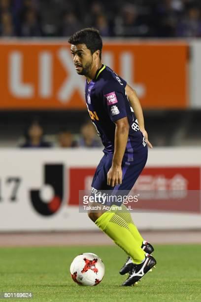 Felipe Silva of Sanfrecce Hiroshima in action during the JLeague J1 match between Sanfrecce Hiroshima and Omiya Ardija at Edion Stadium on June 25...