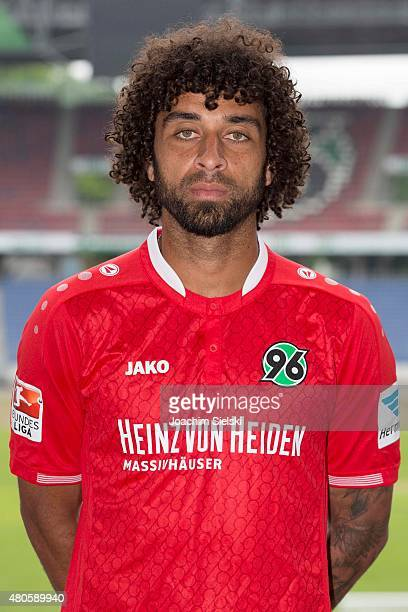 Felipe Trevizan Martins poses during the team presentation of Hannover 96 at HDIArena on July 13 2015 in Hanover Germany