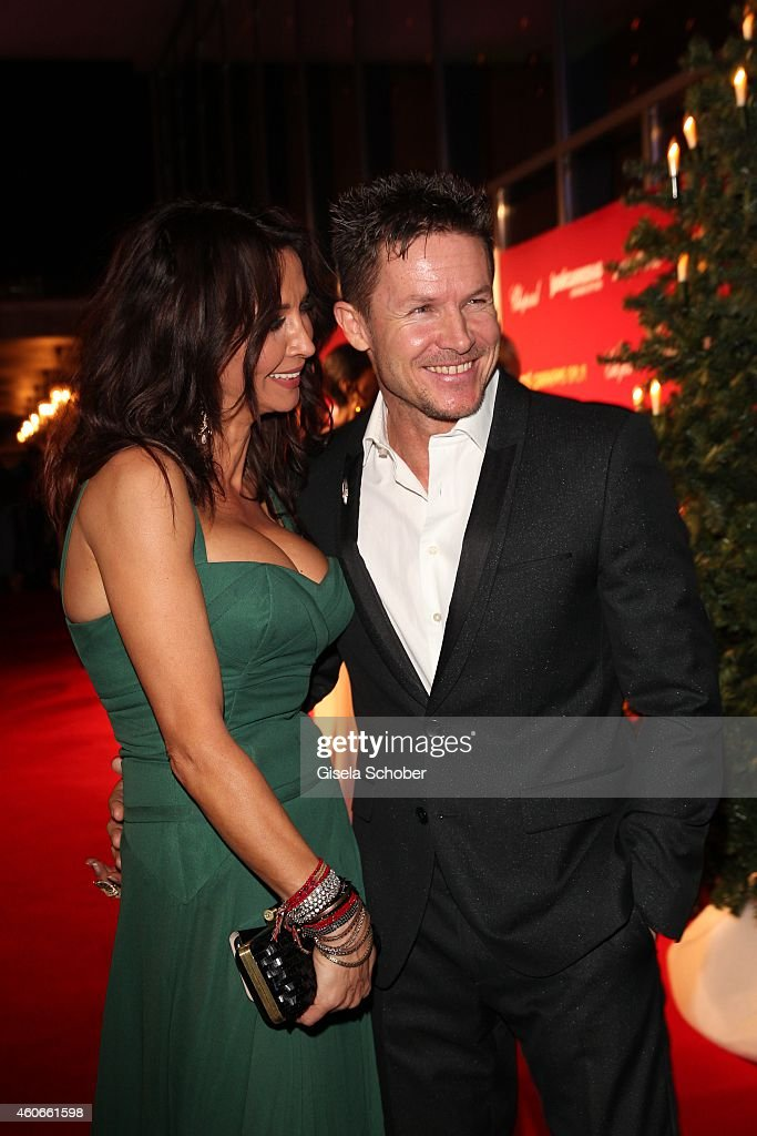<a gi-track='captionPersonalityLinkClicked' href=/galleries/search?phrase=Felix+Baumgartner&family=editorial&specificpeople=787796 ng-click='$event.stopPropagation()'>Felix Baumgartner</a> and Micaela Schwarzenberger during the 20th Annual Jose Carreras Gala on December 18, 2014 in Rust, Germany.