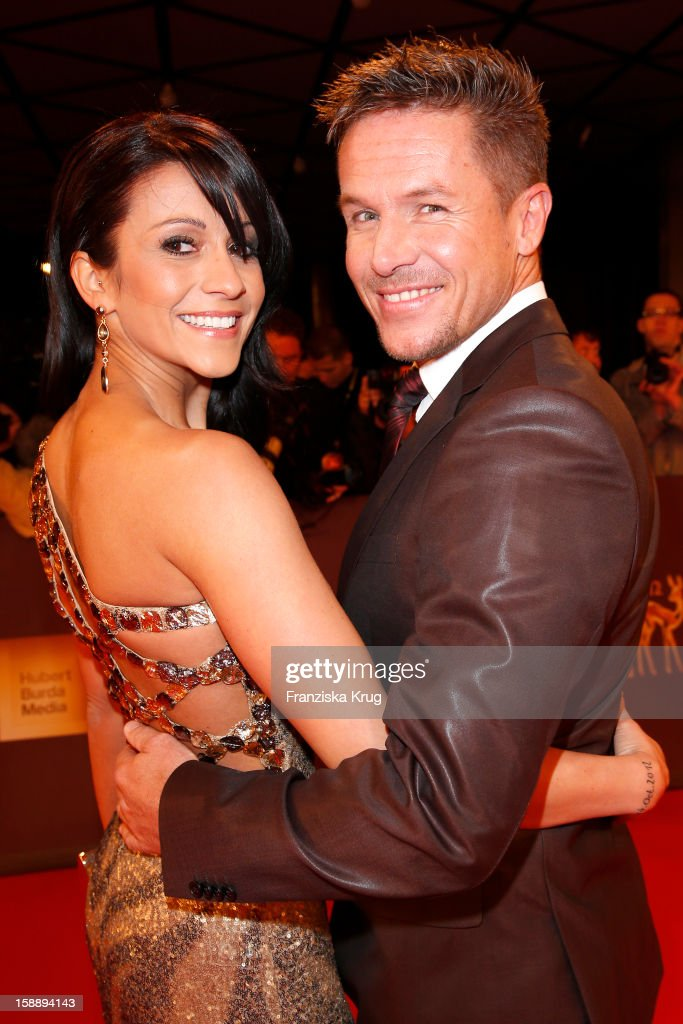 Felix Baumgartner and Nicole Oettl attend the 'BAMBI Awards 2012' at the Stadthalle Duesseldorf on November 22, 2012 in Duesseldorf, Germany.