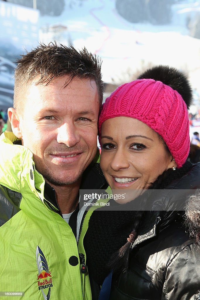 <a gi-track='captionPersonalityLinkClicked' href=/galleries/search?phrase=Felix+Baumgartner&family=editorial&specificpeople=787796 ng-click='$event.stopPropagation()'>Felix Baumgartner</a> and Nicole Oettl attend the Hahnenkamm Race on January 26, 2013 in Kitzbuehel, Austria.