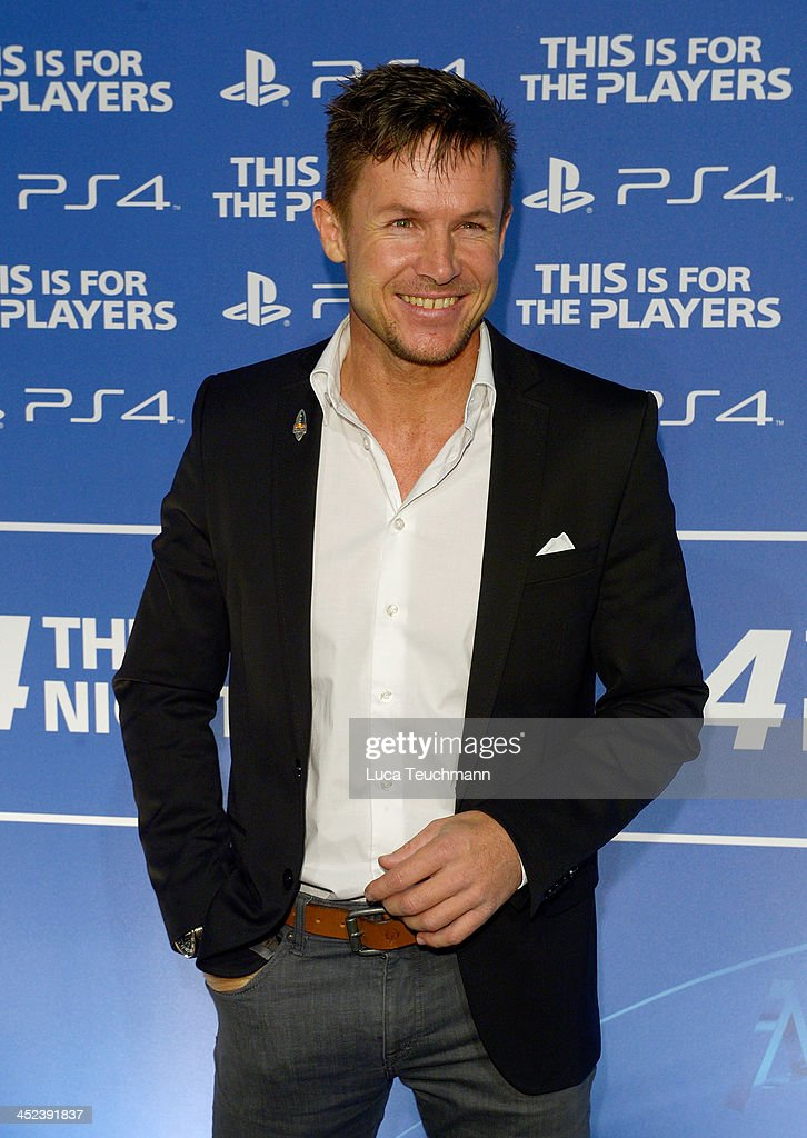 <a gi-track='captionPersonalityLinkClicked' href=/galleries/search?phrase=Felix+Baumgartner&family=editorial&specificpeople=787796 ng-click='$event.stopPropagation()'>Felix Baumgartner</a> attends Sony Launches PlayStation 4 In Germany at Sony Centre on November 28, 2013 in Berlin, Germany.