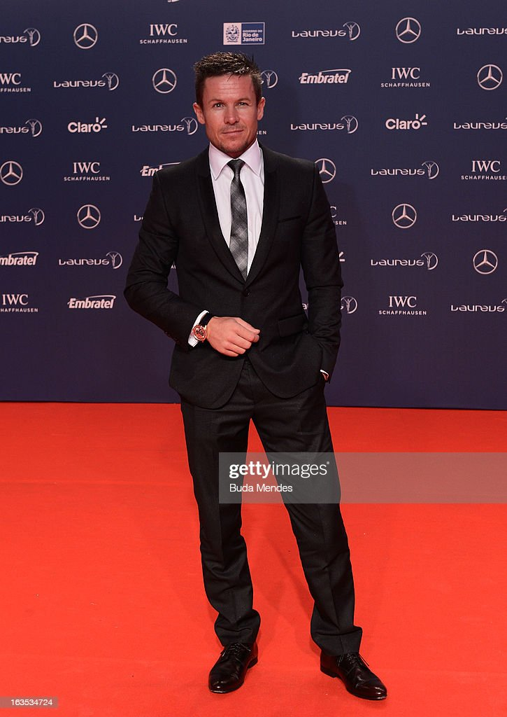 Felix Baumgartner attends the 2013 Laureus World Sports Awards at the Theatro Municipal Do Rio de Janeiro on March 11, 2013 in Rio de Janeiro, Brazil.