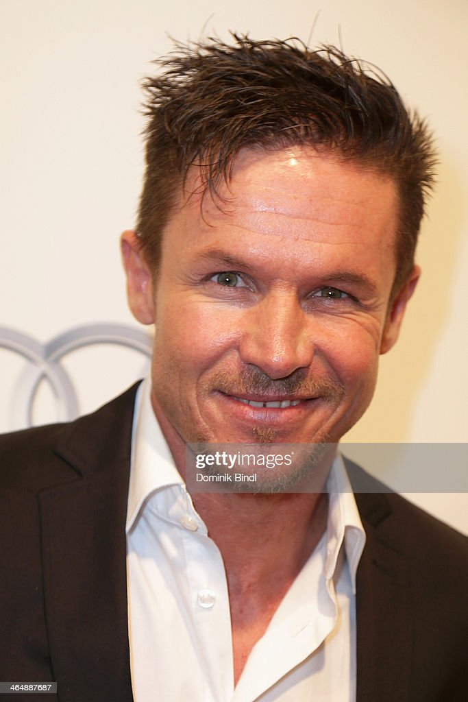 Felix Baumgartner attends the Audi Night 2014 on January 24, 2014 in Kitzbuehel, Austria - felix-baumgartner-attends-the-audi-night-2014-on-january-24-2014-in-picture-id464887687