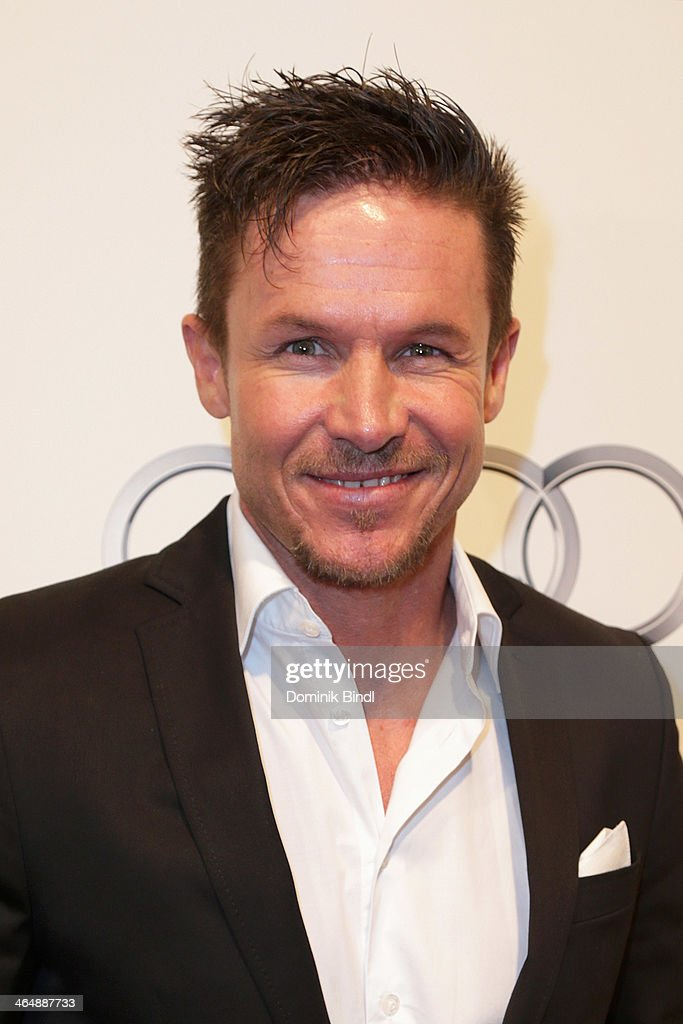 Felix Baumgartner attends the Audi Night 2014 on January 24, 2014 in Kitzbuehel, Austria - felix-baumgartner-attends-the-audi-night-2014-on-january-24-2014-in-picture-id464887733