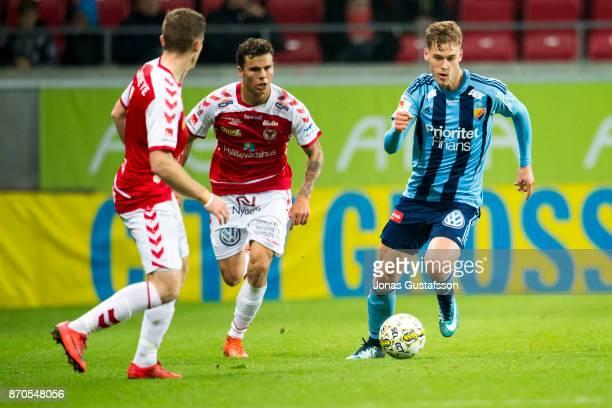 Felix Beijmo of Djurgardens IF during the allsvenskan match between Kalmar FF and Djurgarden IF at Guldfageln Arena on November 5 2017 in Kalmar...