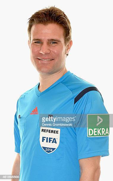 Felix Brych poses during a portrait session during the DFB Referee's Training Camp on January 21 2015 in Palma de Mallorca Spain