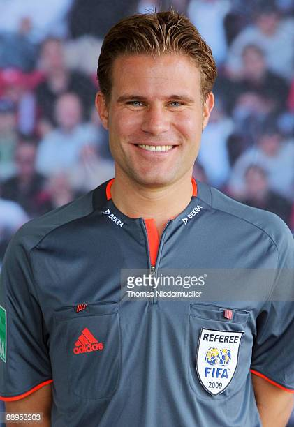 Felix Brych poses during the German Football Association referee meeting on July 9 2009 in Altensteig Germany