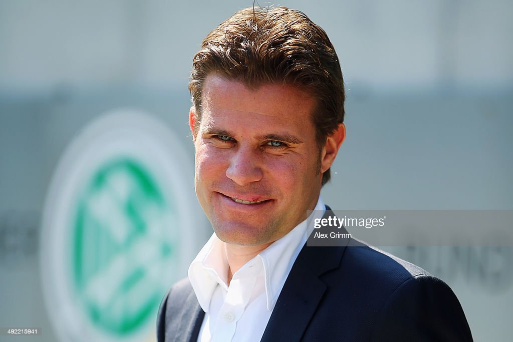 <a gi-track='captionPersonalityLinkClicked' href=/galleries/search?phrase=Felix+Brych&family=editorial&specificpeople=707645 ng-click='$event.stopPropagation()'>Felix Brych</a> poses prior to a press conference of the German FIFA 2014 World Cup referees at DFB headquarters on May 19, 2014 in Frankfurt am Main, Germany.