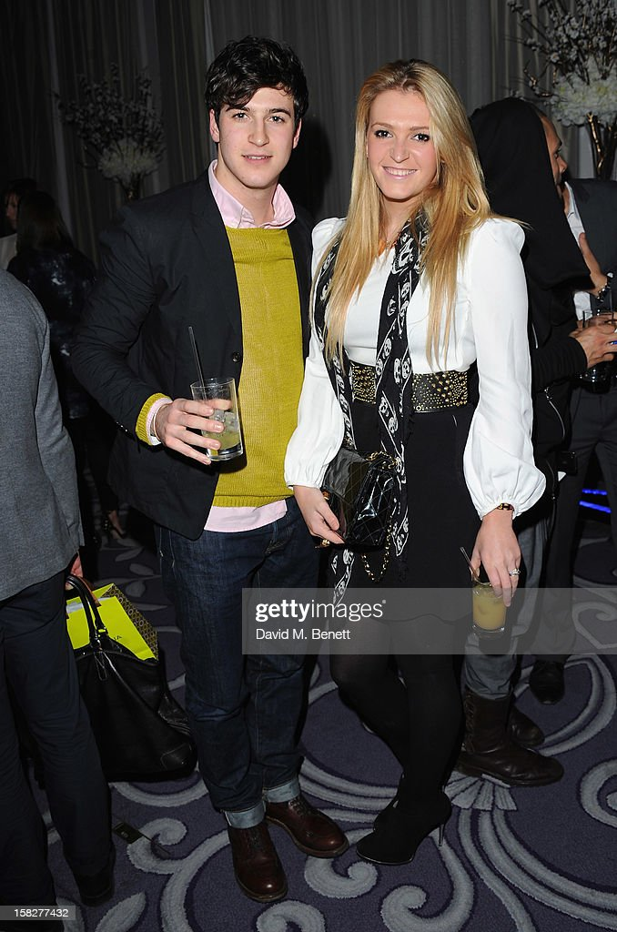 Felix Clarke and Harriet Bond attend a champagne reception celebrating the launch of Chamilia and Ernest Jones' partnership with Make-A-Wish International at the Corinthia Hotel on December 12, 2012 in London, England.
