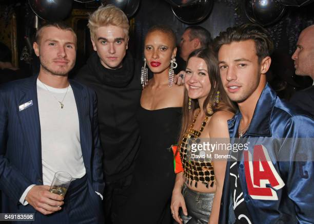 Felix Cooper Gabriel Kane Day Lewis Adwoa Aboah guest and Cameron Dallas attend the LOVE magazine x Miu Miu party held during London Fashion Week at...