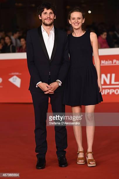 Felix de Givry and Mia HansenLove attend 'Eden' Red Carpet during The 9th Rome Film Festival at Auditorium Parco Della Musica on October 17 2014 in...