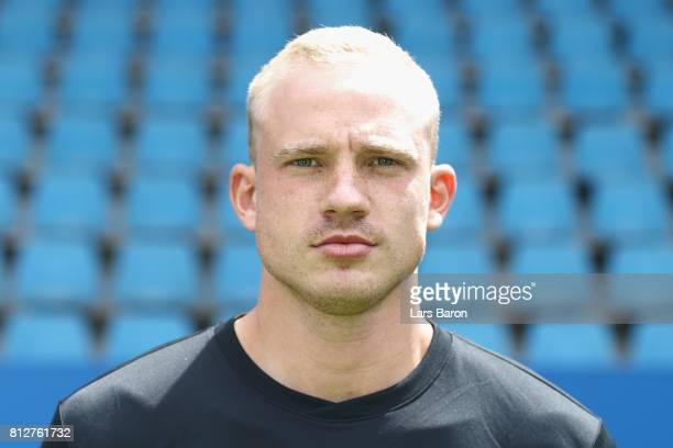 Felix Dornebusch of VfL Bochum poses during the team presentation at Vonovia Ruhrstadion on July 11 2017 in Bochum Germany