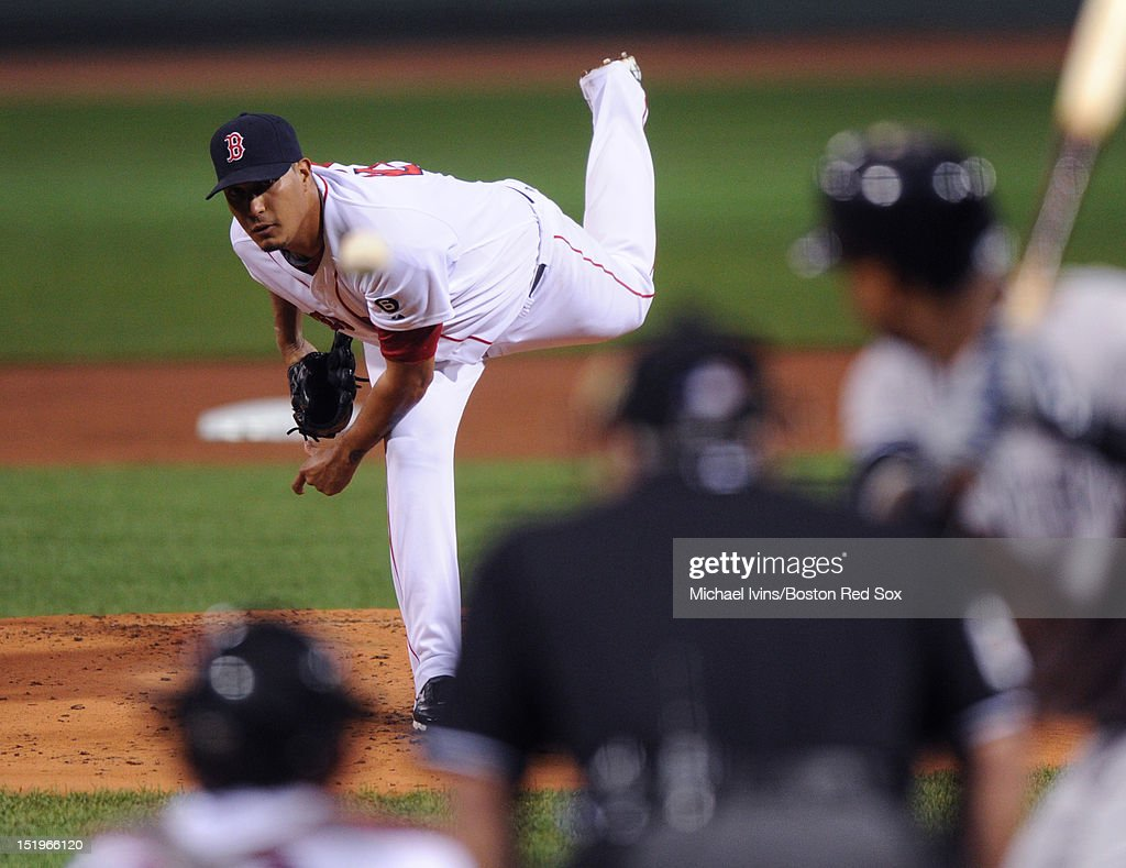 Felix Doubront # of the Boston Red Sox pitches against the New York Yankees in the first inning on September 13, 2012 at Fenway Park in Boston, Massachusetts.