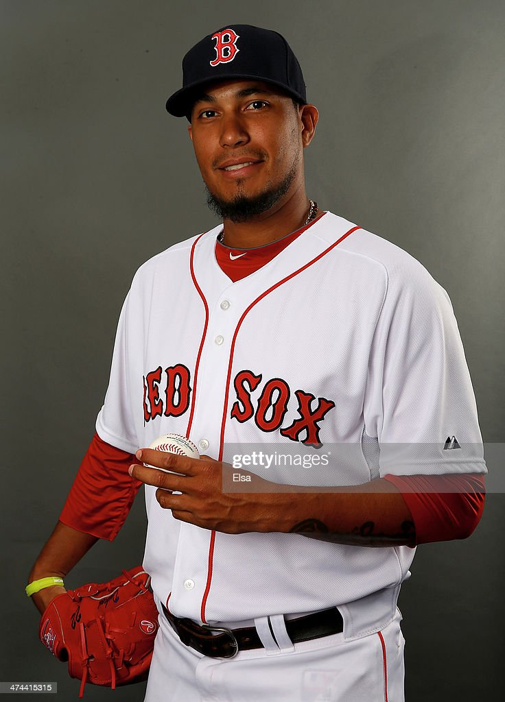 Felix Doubront #22 of the Boston Red Sox poses for a portrait during Boston Red Sox Photo Day on February 23, 2014 at JetBlue Park in Fort Myers, Florida.