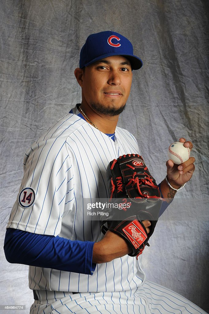 Felix Doubront #22 of the Chicago Cubs poses for a portrait during Photo Day on March 2, 2015 at Sloan Park in Mesa, Arizona.