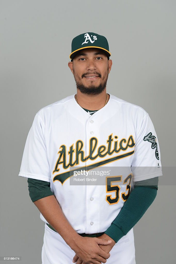 Felix Doubront #53 of the Oakland Athletics poses during Photo Day on Monday, February 29, 2016 at Hohokam Stadium in Phoenix, Arizona.
