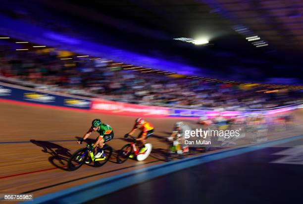 Felix English of Ireland competes in the Mens Chase on day three of the London Six Day Race at the Lee Valley Velopark Velodrome on October 26 2017...