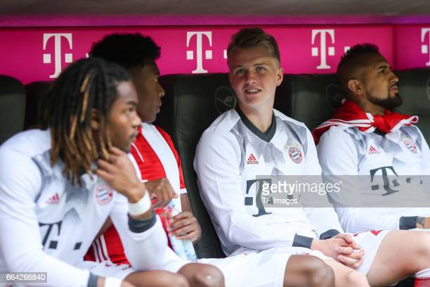 Felix Goetze of Munich looks on during the Bundesliga match between Bayern Muenchen and FC Augsburg at Allianz Arena on April 1 2017 in Munich Germany