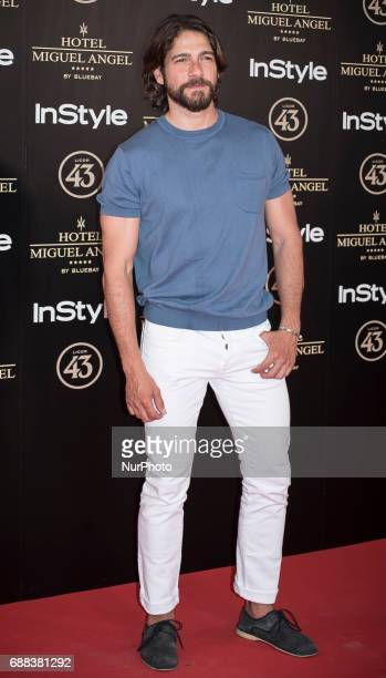 Felix Gomez attends El Jardin del Miguel Angel party photocall at Miguel Angel hotel on May 24 2017 in Madrid Spain