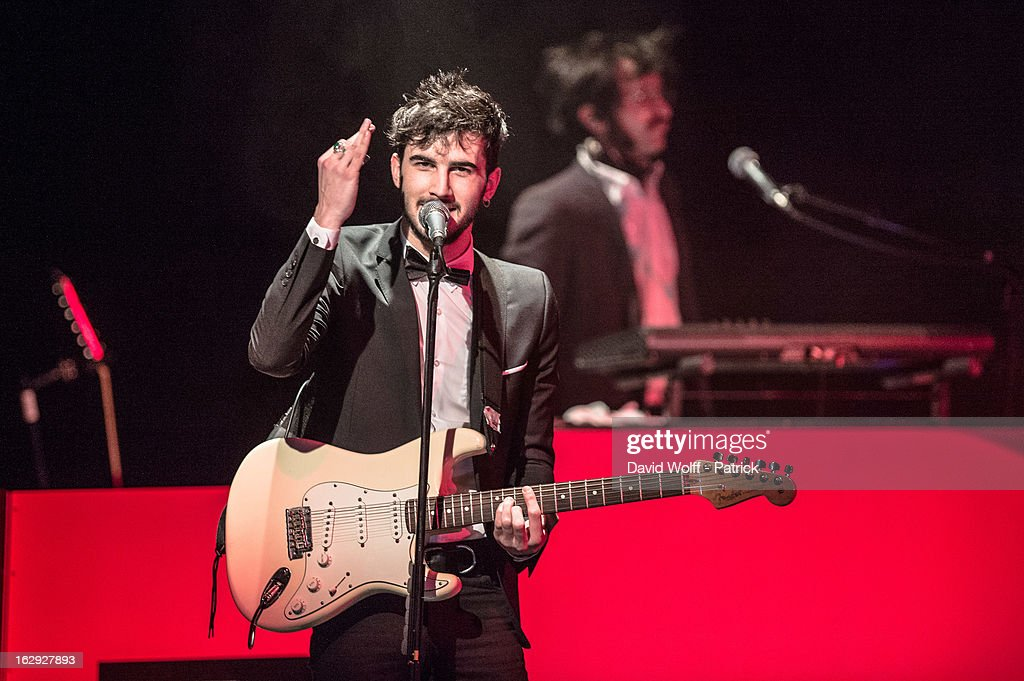 Felix Hemmen from BB Brunes performs at Le Trianon on March 1, 2013 in Paris, France.