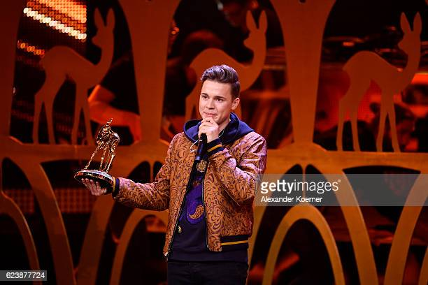 Felix Jaehn is seen on stage during the Bambi Awards 2016 show at Stage Theater on November 17 2016 in Berlin Germany