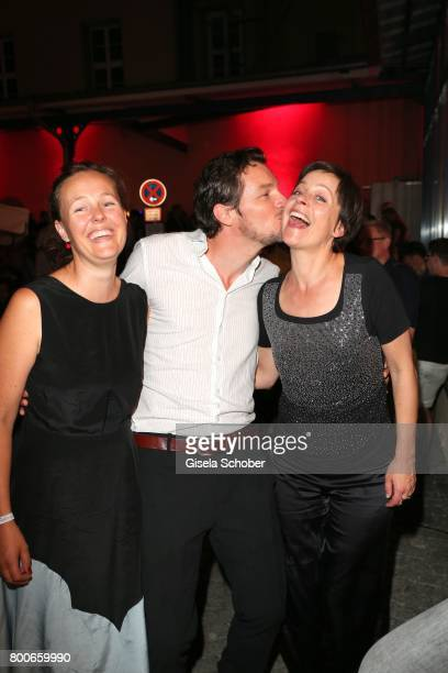 Felix Klare and his wife Zora Thiessen and Jule Ronstedt during the 'Audi Director's cut' Party during the Munich film festival at Praterinsel on...