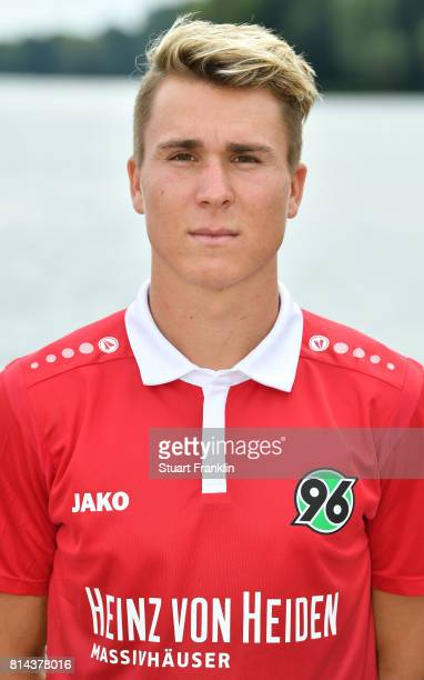 Felix Klaus of Hannover 96 poses during the team presentation at on July 14 2017 in Hanover Germany