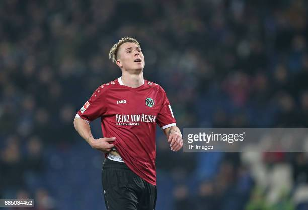 Felix Klaus of Hannover looks on during the friendly match between Hannover 96 an FC Schalke 04 at HDIArena on March 23 2017 in Hannover Germany