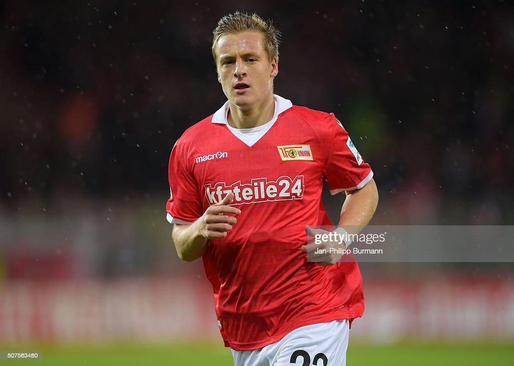 Felix Kroos of 1 FC Union Berlin during the game between Union Berlin and Austria Salzburg on January 30 2016 in Berlin Germany
