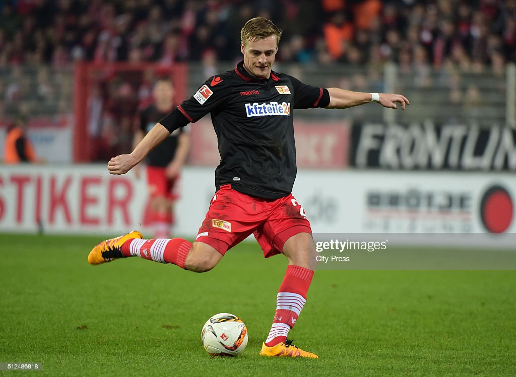 Felix Kroos of 1 FC Union Berlin scores the 11 during the game between Union Berlin and Karlsruher SC on February 26 2016 in Berlin Germany