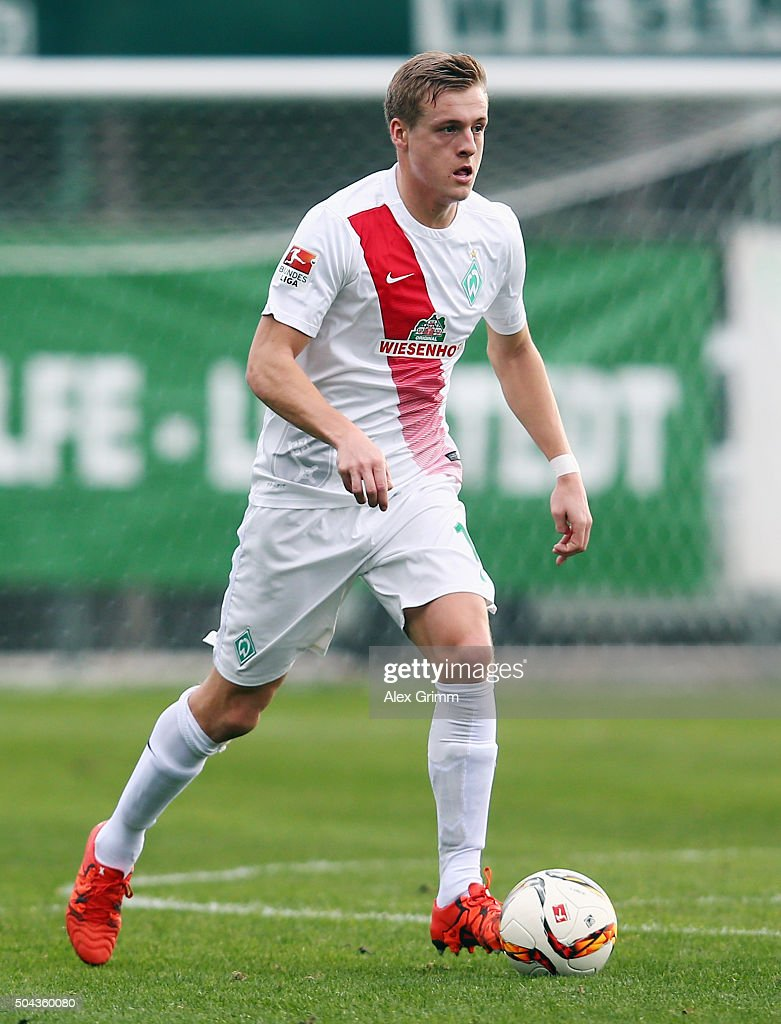 Felix Kroos of Bremen controles the ball during a friendly match between Werder Bremen and Erzgebirge Aue at Regnum Sports Center on January 10 2016...