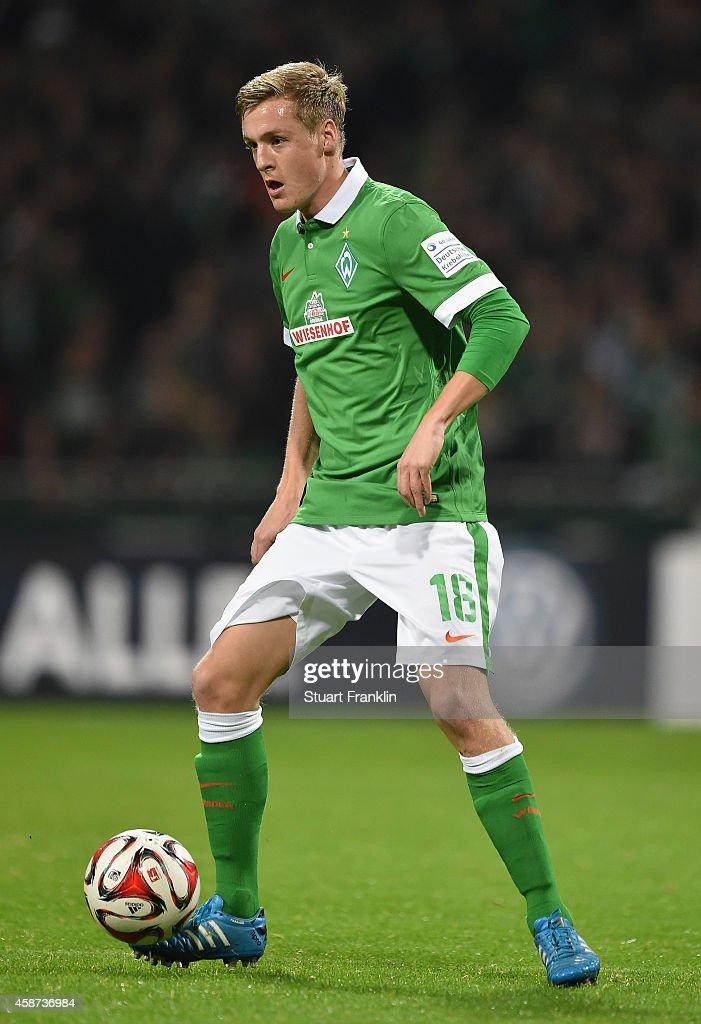 Felix Kroos of Bremen in action during the Bundesliga match between SV Werder Bremen and VfB Stuttgart at Weserstadion on November 8 2014 in Bremen...