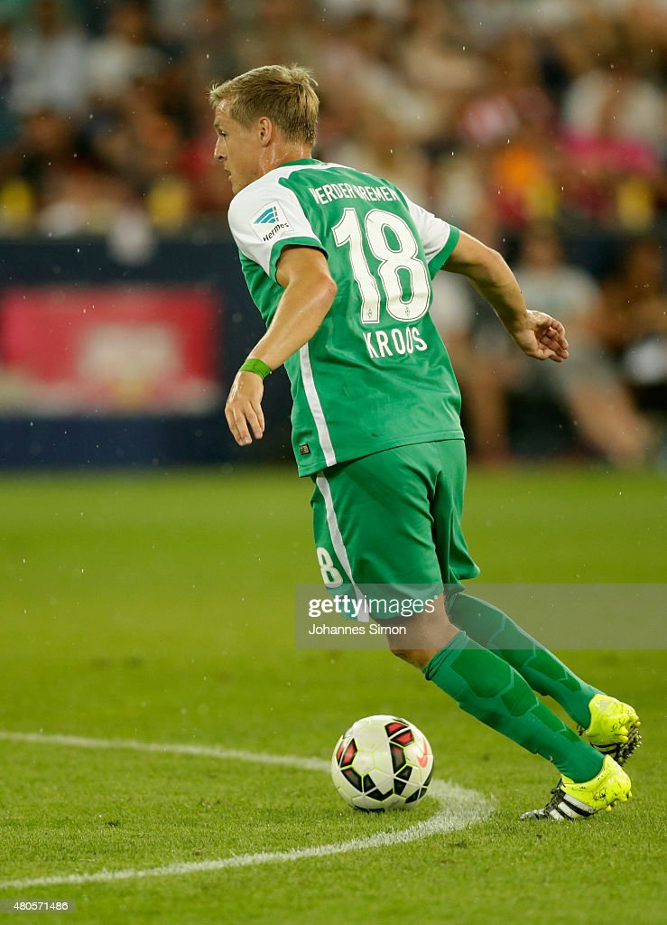 Felix Kroos of Bremen in action during the preseason final match between SV Werder Bremen and Valencia CF as part of the Audi Quattro Cup 2015 at Red...